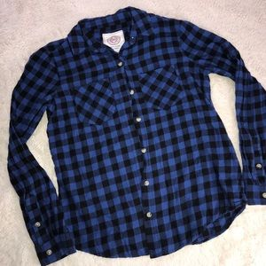Plaid button up flannel